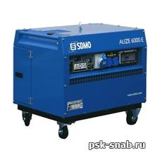 Бензиновая электростанция SDMO в шумозащитном кожухе с электростартером Alize 6000E (5,6 кВт)