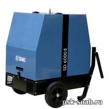 Дизельная электростанция SDMO в шумозащитном кожухе с электростартером SD 6000E (5,2 кВт)