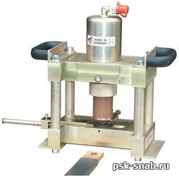 Машина для обработки пластинчатых токоведущих шин