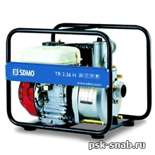 Мотопомпа для перекачки воды средней степени загрязненности SDMO TR 2,36 H