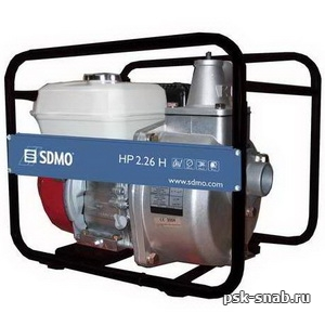 Мотопомпа SDMO высокого давления для пожарных нужд  НР 2,26 H