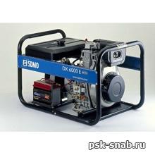 Портативный дизель-генератор SDMO с электростартером DX 6000E XL C (5,2 кВт)
