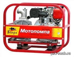Дизельная мотопомпа для чистой или слабозагрязненной воды Вепрь МП 500 ДЯ