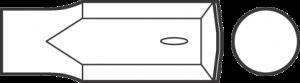 Долото твердосплавное, цилиндрический хвостовик с впадиной 18194002