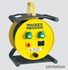 Электронный преобразователь частоты и напряжения с кабельным барабаном Wacker Neuson  KTU 2 / 042 / 200W
