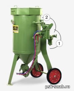 Пескоструйный аппарат Contracor DBS-100 RC (с дистанционным управлением)