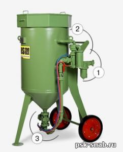 Пескоструйный аппарат Contracor DBS-100 RCS (с дистанционным управлением и дозатором SGV)