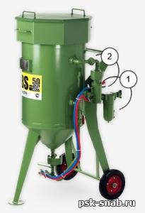 Пескоструйный аппарат Contracor  DBS-50 RC (с дистанционным управлением)