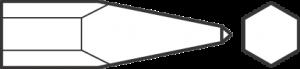 Пика для пневматического инструмента, хвостовик шестигранный 18193002