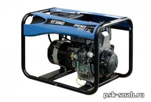 Портативный дизель-генератор SDMO с электростартером Diesel 6000E XL(5,2 кВт)