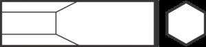 Зубило для пневматического инструмента, хвостовик шестигранный 18192001