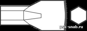 Зубило для пневматического инструмента, хвостовик шестигранный 18193002