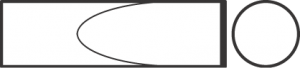 Зубило узкое для пневматического инструмента, хвостовик цилиндрический с овальным фланцем 18191003