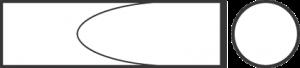 Зубило узкое для пневматического инструмента, хвостовик цилиндрический с овальным фланцем 18191004