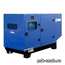 Стационарная дизельная электростанция SDMO J110K-IV в шумозащитном кожухе модели 129
