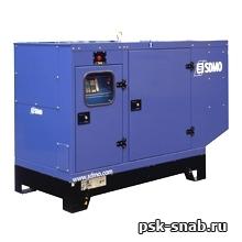 Стационарная дизельная электростанция SDMO J77 K-IV в шумозащитном кожухе модели 128