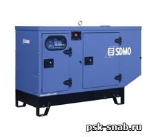 Стационарная дизельная электростанция SDMO T9 KМ-IV в шумозащитном кожухе модели 126