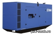 Стационарная дизельная электростанция SDMO V500K-IV в шумозащитном кожухе модели 229