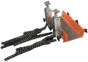 Фиксирующее приспособление с натяжными цепями